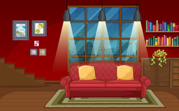 Living room background scene