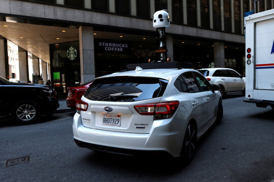 Apple Maps mapping vehicle drives in lower Manhattan in New York City