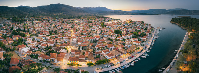 Aerial view of Galaxidi (Galaxeidi) in the southern part of Phocis, Greece Fotomurales