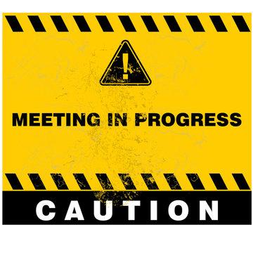 meeting in Progress, sign vector