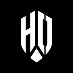 ho logo monogram with emblem shield style design template