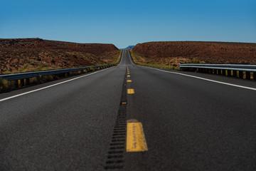 Fotobehang Route 66 Route 66 in California. Asphalt texture, way background. American roadtrip.