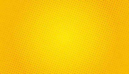 Pop Art background. Retro dotted background. Vector illustration. Halftone yellow pop art