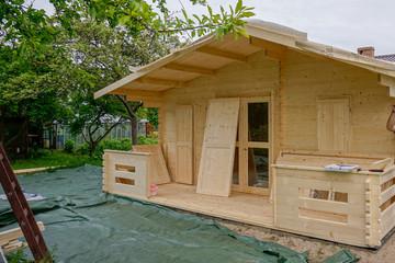 Fototapeta domek letniskowy drewniany obraz