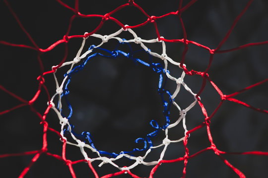 Top view of basketball net