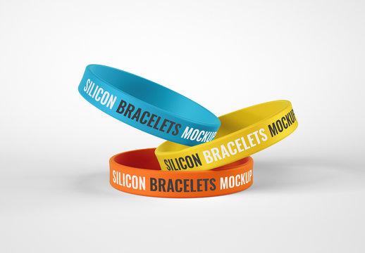 Silicone Wristbands Mockup, Bracelet
