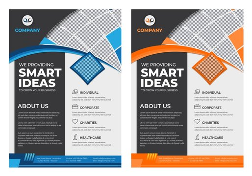 Corporate Flyer design for business template Free Vector