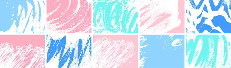 Soap grunge backgrounds collection. Foam textures set. Foam water. Soap bubble stains bundle. Shampoo. Shaving cream. Cleaning. Washing.