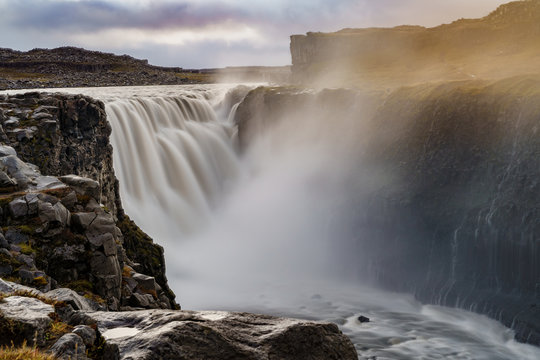 Long exposure shot of the second most powerful waterfall in Europe  -- Dettifoss, Iceland