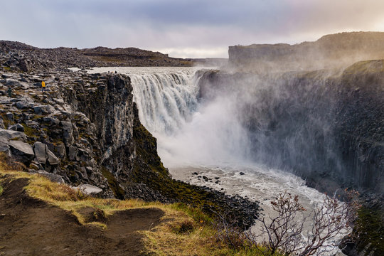 The second most powerful waterfall in Europe  -- Dettifoss, Iceland