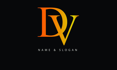 DV, VD, D, V abstract letters logo monogram