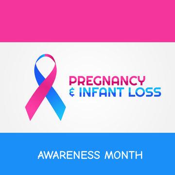 Vector graphic of Pregnancy and Infant Loss Month good for Pregnancy and Infant Loss celebration. flat design. flyer design.flat illustration. Pregnancy and Infant Loss.