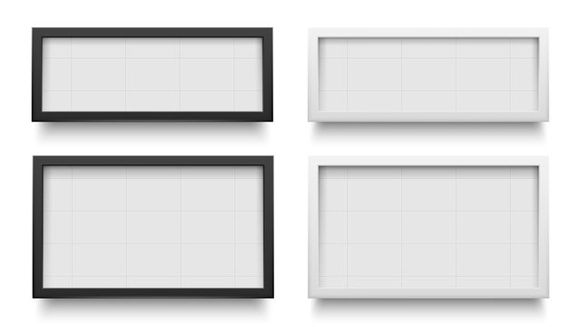 Lightbox signs. Advertising light box template, banner promotion isolated for advertisement. Vector illustration