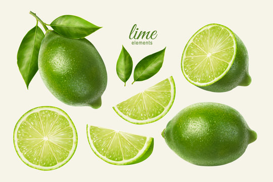 Fresh lime set