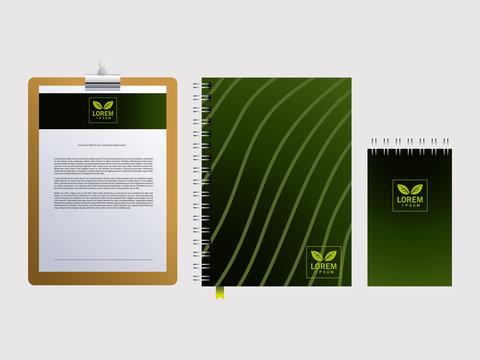 corporate branding identity mockup on white background