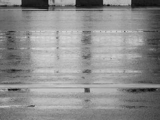 texture of wet asphalt road after rain