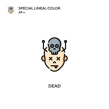 Dead Simple vector icon. Dead icons for your business project