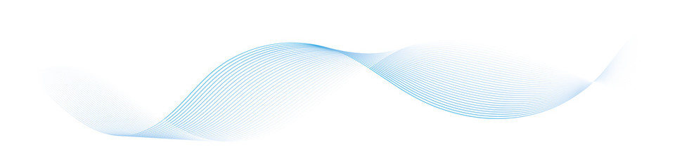 Wall Murals Abstract wave abstract vector blue wave lines on white background