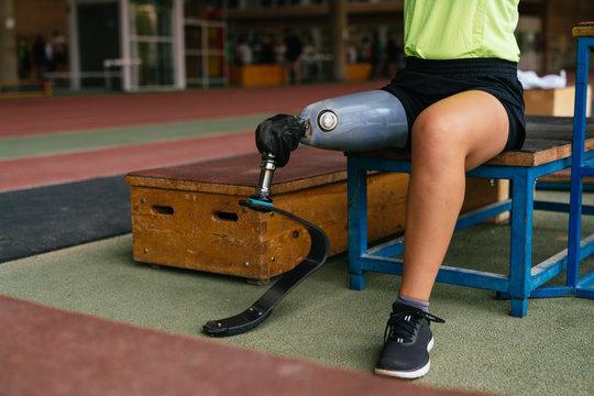 female paralympic athlete