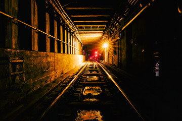 New York Subway Tunnel Fotomurales