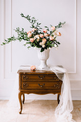 Flower decor in royal interior