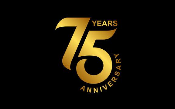 75 years anniversary logo vector design template