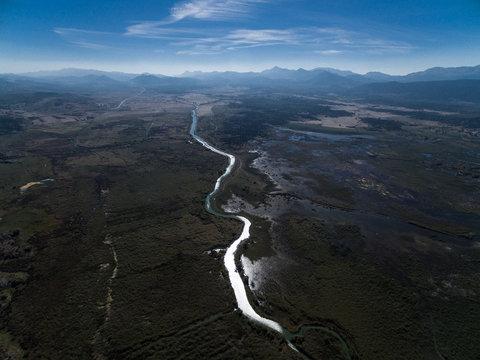 River shimmering