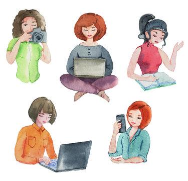 set of girls bloggers