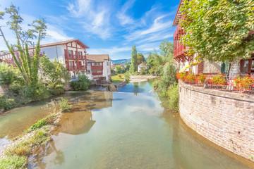 La Nive à Saint-Jean-Pied-de-Port, pays basque, France