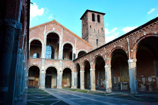 Basilica of St Ambrose in Milan, Italy