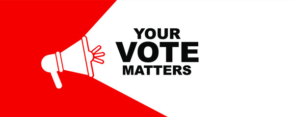 Fototapeta your vote matters sign on white background obraz