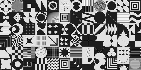 Monochrome Abstract Vector Pattern Design