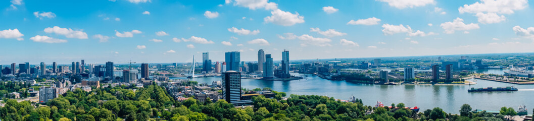 beautiful panorama view of Rotterdam from Euromast