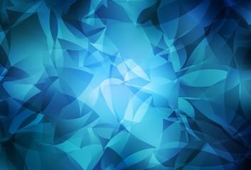 Light BLUE vector triangle mosaic texture.