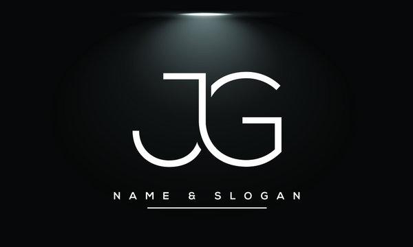 JG,GJ,J ,G Abstract Letters Logo Monogram