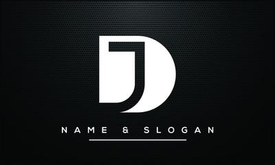 JD,DJ ,J ,D Abstract Letters Logo Monogram