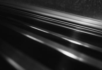 Diagonal black & white steel panels abstraction background Fotobehang