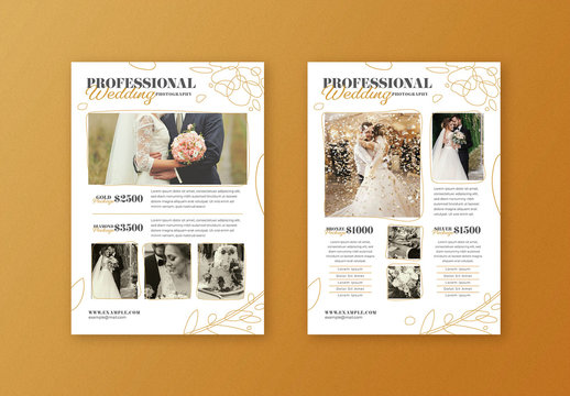 Modern Wedding Photography Pricing Flyer Layout