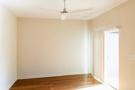 Ceiling fan over empty room