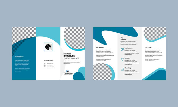 Tri fold brochure design. Corporate business template