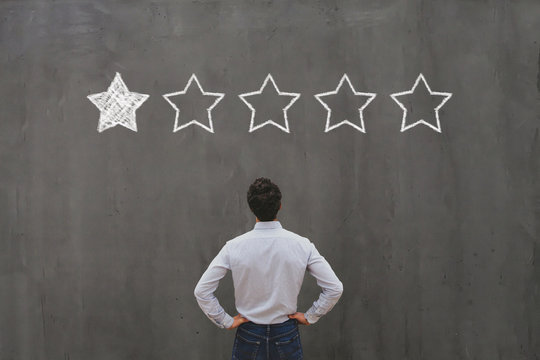 bad rating and negative reviews concept, reputation management and customer relations