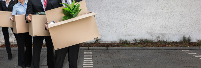 Unemployed People Move. Job Layoff
