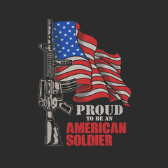 american soldier illustration vector graphic