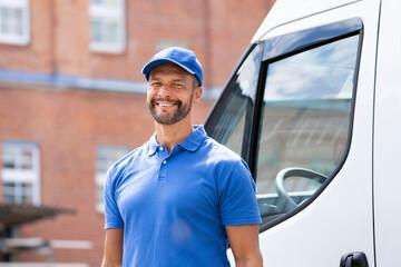Smiling Delivery Men Or Handyman