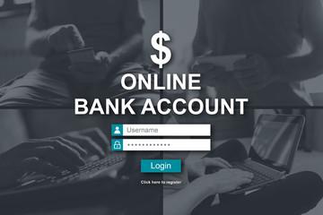 Concept of online bank account