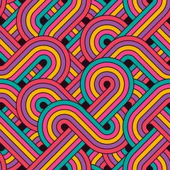 Motif de lignes rétro abstrait sans soudure