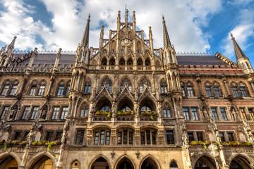 Fototapete - Rathaus or New Town Hall on Marienplatz square in Munich, Bavaria, Germany