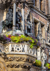 Fototapete - Rathaus or New Town Hall on Marienplatz square, Munich, Bavaria, Germany
