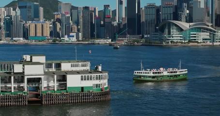 Wall Mural - Hong Kong ferry pier