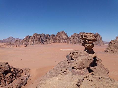 Landscape of Wadi Rum Desert, Jordan.